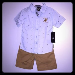 Beverly Hills Polo Club Boys Size 4T outfit NWT